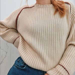 cream vintage GUESS sweater